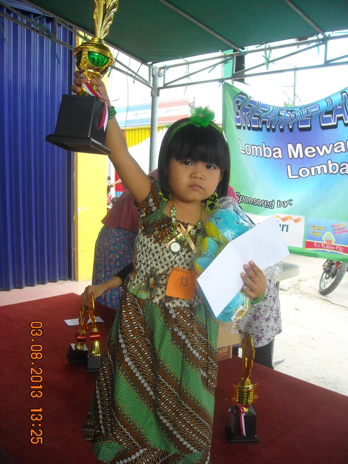 bitha.. juara 2 fashion kategori PG