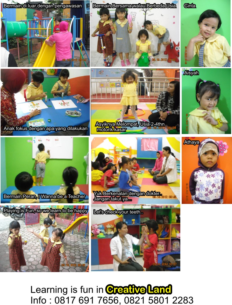 photos of the student's activity