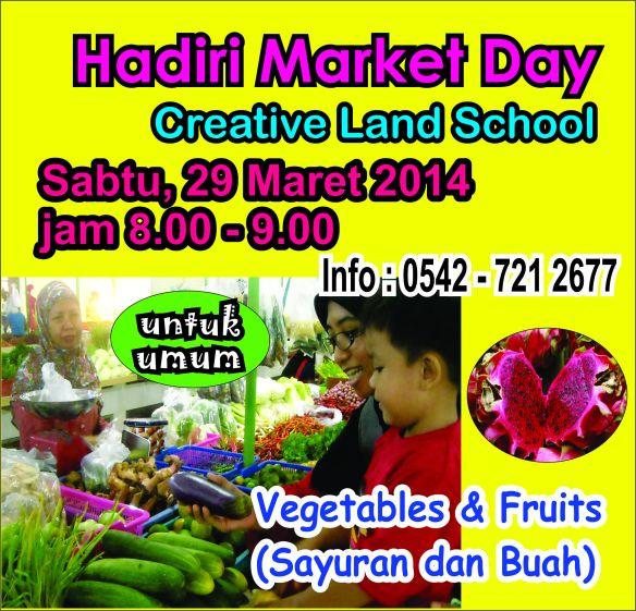 Ayo belanja di Market Day Creative Land School