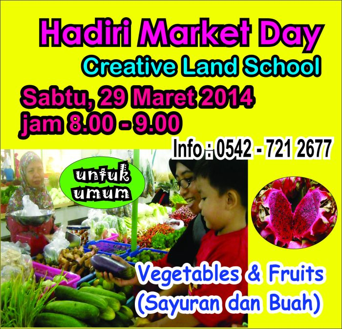 Ayo belanja di Market Day Creative Land School